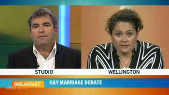 tv1 breakfast gay marriage louisa wall