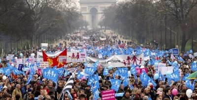 gay marriage france march jan 2013