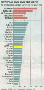 solo parents rate OECD