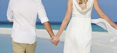 Marriage - couple on beach
