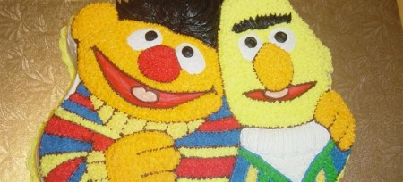 Marriage - bert & ernie cake
